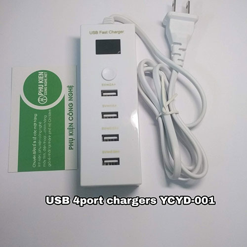 USB 4Port Chargers YCYD-001