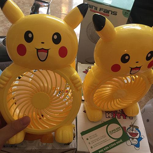 Quạt mini Pikachu