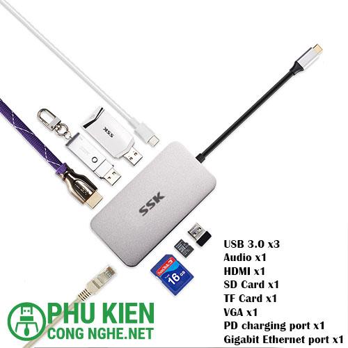 Hub OTG Type C SSk SHU C520