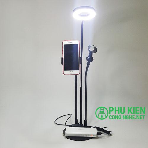 Bộ giá đỡ livestream có đèn led