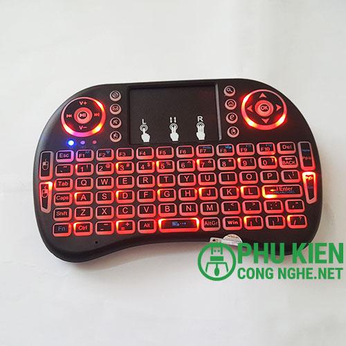 Bàn phím mini kèm chuột cảm ứng 08RF/2.2 - Mini wireless keyboard & Touchpad 08RF/2.2