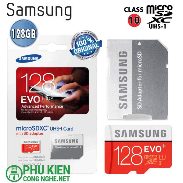Thẻ nhớ Samsung 128gb Evo MicroSDXC chính hãng