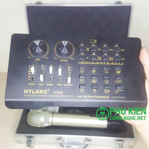 Bộ micro sound card live stream V800