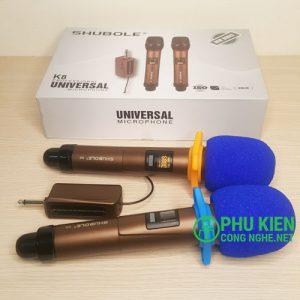 Micro Karaoke bộ 2 mic Shubole K8