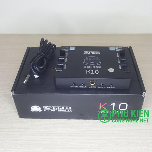 Sound card XoX K10 chuyên live stream