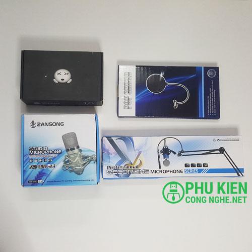Bộ live stream soundcard K10 Mic BM900 chất lượng cao